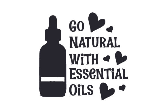 Go Natural with Essential Oils Wellness Craft Cut File By Creative Fabrica Crafts - Image 1