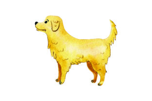 Golden Retriever - Watercolor Craft Design By Creative Fabrica Crafts
