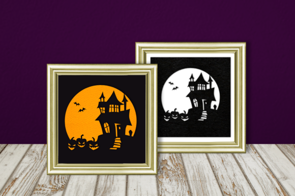 Halloween Haunted House Silhouette Graphic By RisaRocksIt Image 1