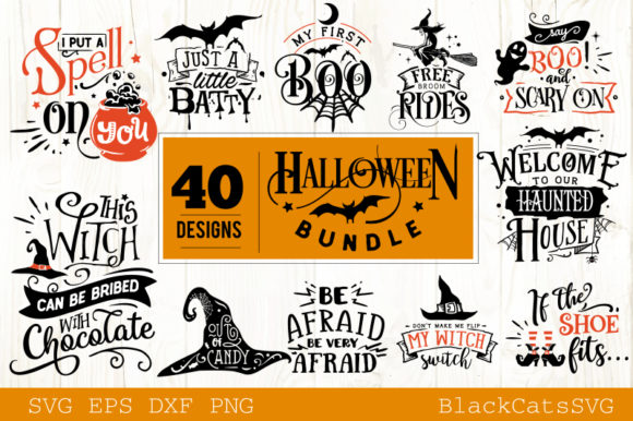 Halloween SVG Bundle 40 Designs Vol 2 Graphic Crafts By BlackCatsMedia - Image 2