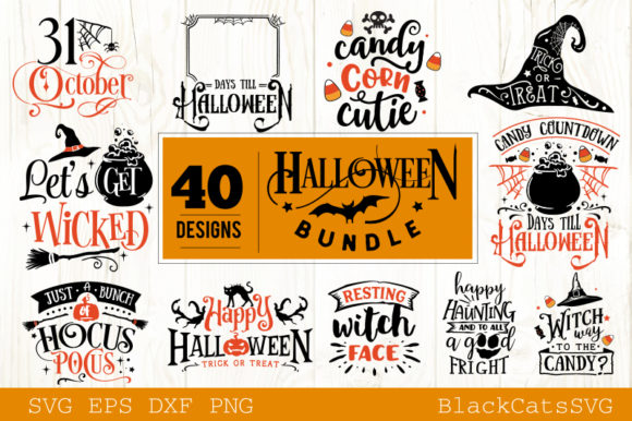 Halloween SVG Bundle 40 Designs Vol 2 Graphic Crafts By BlackCatsMedia - Image 3