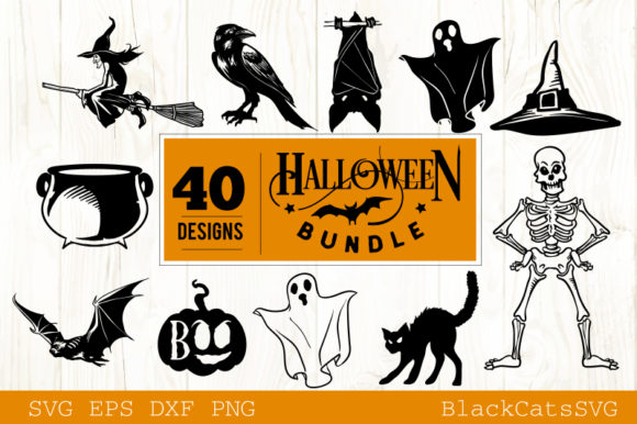 Halloween SVG Bundle 40 Designs Vol 2 Graphic Crafts By BlackCatsMedia - Image 4