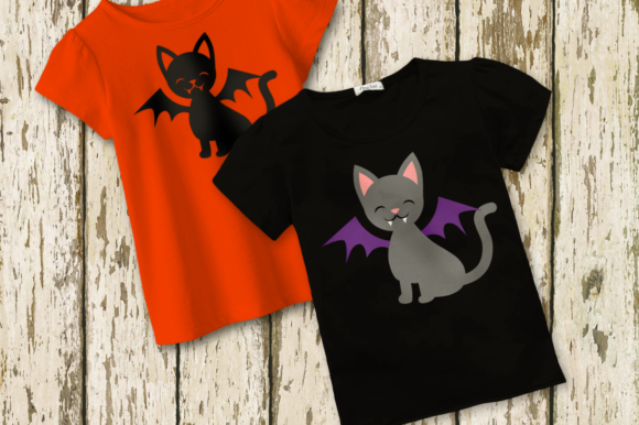 Download Free Halloween Vampire Cat Graphic By Designedbygeeks Creative Fabrica for Cricut Explore, Silhouette and other cutting machines.