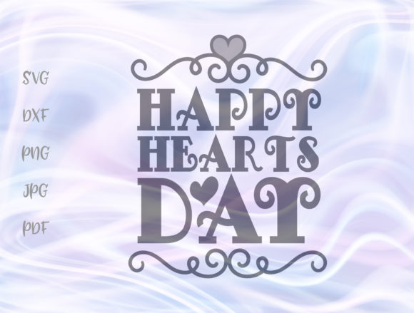 Download Free Happy Hearts Day Valentines Clipart Graphic By Digitals By Hanna for Cricut Explore, Silhouette and other cutting machines.