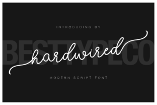 Hardwired Font By besttypeco