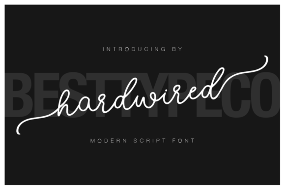 Print on Demand: Hardwired Script & Handwritten Font By besttypeco