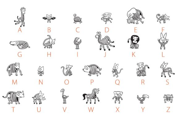 Print on Demand: Haunted Zoo Dingbats Font By Illustration Ink - Image 4