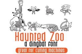 Print on Demand: Haunted Zoo Dingbats Font By Illustration Ink