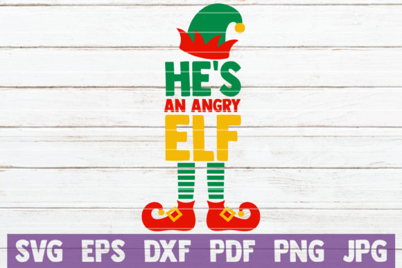 He is an Angry Elf Graphic Graphic Templates By MintyMarshmallows - Image 1