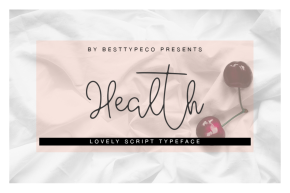 Print on Demand: Health Script & Handwritten Font By besttypeco