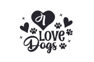 I Love Dogs Craft Design By Creative Fabrica Crafts