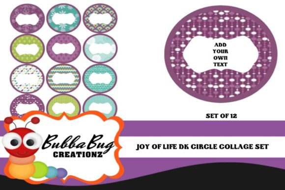 Joy of Life Circle Collage Set Graphic Crafts By BUBBABUG - Image 1