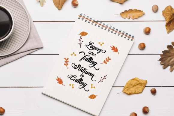 Leaves Are Falling Autumn is Calling Graphic By ElsieLovesDesign