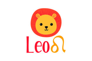 Leo Horoscope with Sign and a Lion Craft Design By Creative Fabrica Crafts