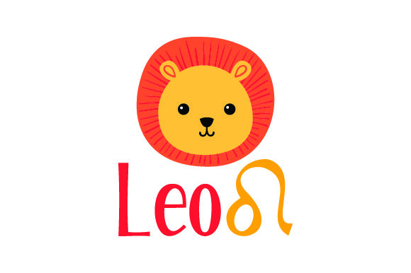 Leo Horoscope With Sign And A Lion Svg Cut File By Creative