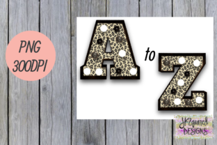 Leopard Marquee Alphabet Graphic By jk2quareddesigns