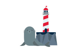 Lighthouse with Seal Craft Design By Creative Fabrica Crafts