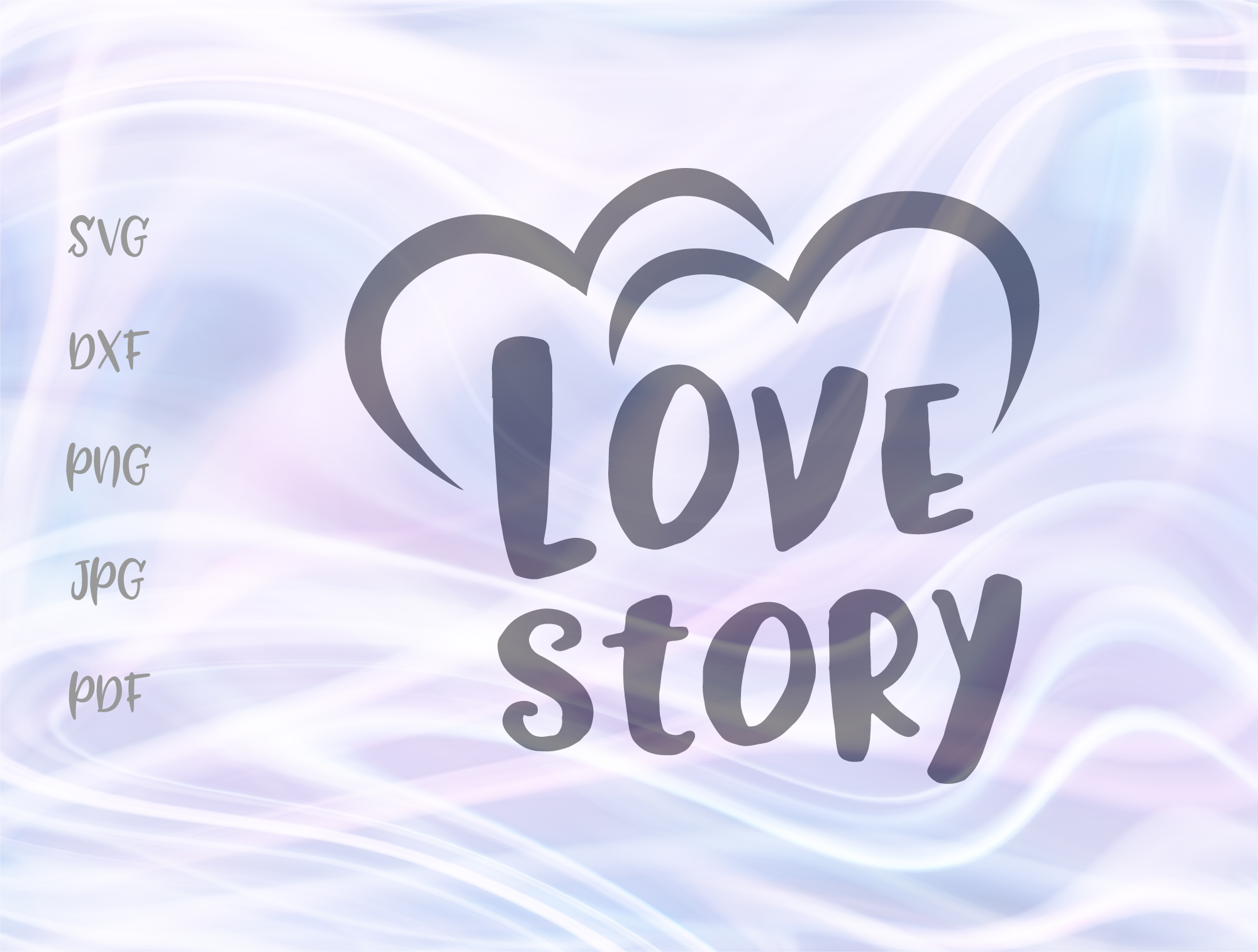 Download Free Love Story Happy Valentines Day Wedding Graphic By Digitals By for Cricut Explore, Silhouette and other cutting machines.