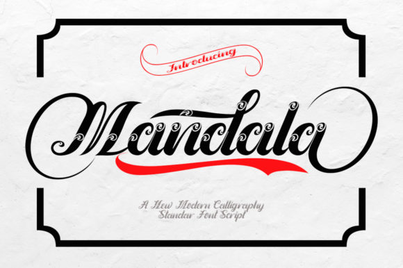 Print on Demand: Mandala Script & Handwritten Font By faisal_Alfaraby