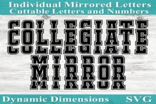Mirror It Font Mirrored Letters Sports Graphic By dynamicdimensions