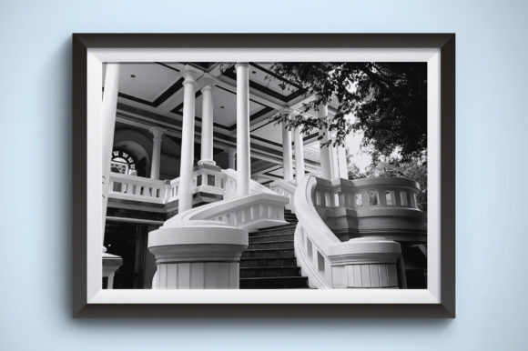 Old Buildings of Botanical Garden Graphic Architecture By Kerupukart Production