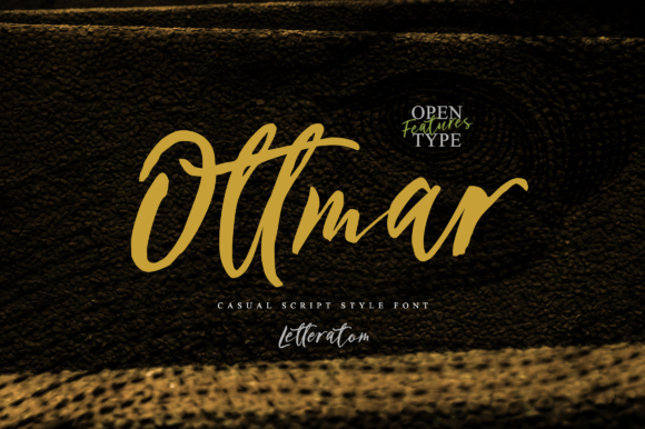 Print on Demand: Outtmar Script & Handwritten Font By Letteratom