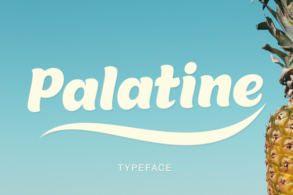 Print on Demand: Palatine Display Font By Pasha Larin - Image 1