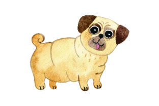 Pug - Watercolor Craft Design By Creative Fabrica Crafts