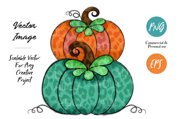 Print on Demand: Pumpkin Halloween Design Graphic Illustrations By adlydigital