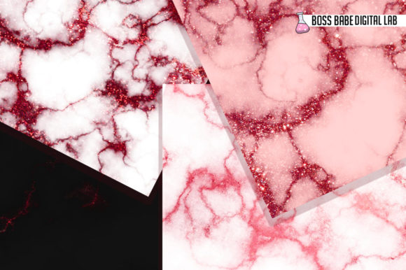 Download Free Red Glam Marble Digital Paper Graphic By Bossbabedigitallab for Cricut Explore, Silhouette and other cutting machines.