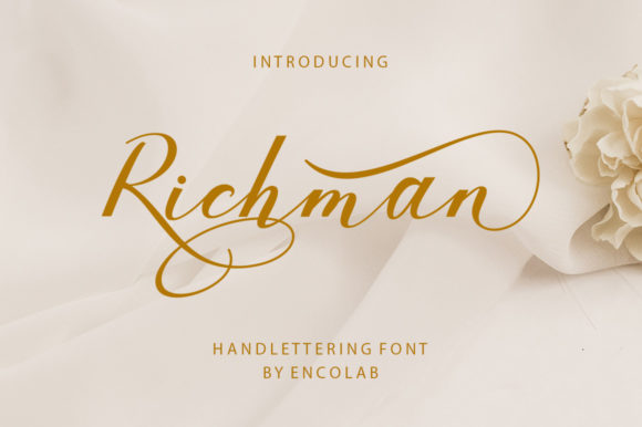 Print on Demand: Richman Script & Handwritten Font By Encolab - Image 1
