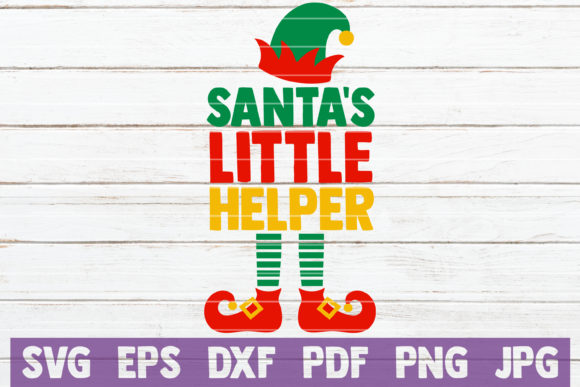 Download Free Santa S Little Helper Graphic By Mintymarshmallows Creative for Cricut Explore, Silhouette and other cutting machines.