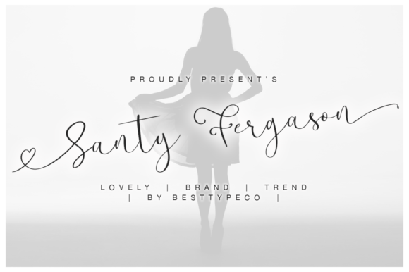 Print on Demand: Santy Fergason Script & Handwritten Font By besttypeco