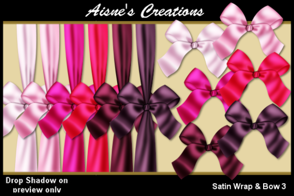 Print on Demand: Satin Wrap & Bow 3 Graphic Objects By Aisne - Image 1