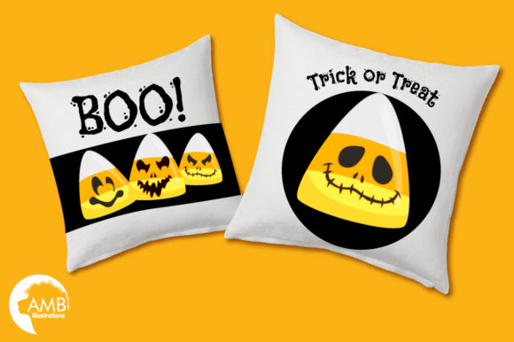 Scary Candy Corn Faces Graphic Illustrations By AMBillustrations - Image 3