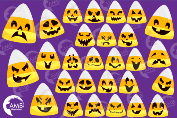 Scary Candy Corn Faces Graphic Illustrations By AMBillustrations - Image 4