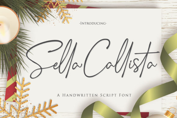 Print on Demand: Sella Callista Script & Handwritten Font By Gilar Studio - Image 1
