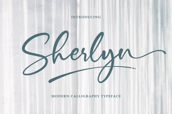 Print on Demand: Sherlyn Script & Handwritten Font By R. Studio