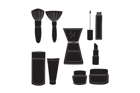 Download Free Silhouette Makeup Design Graphic By Sabavector Creative Fabrica for Cricut Explore, Silhouette and other cutting machines.