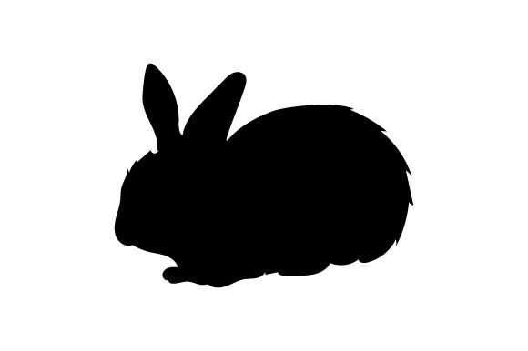 Download Free Silhouette Of Bunny Svg Cut File By Creative Fabrica Crafts for Cricut Explore, Silhouette and other cutting machines.