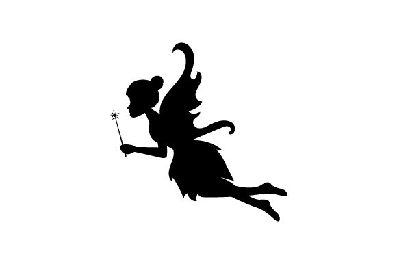 Download Free Silhouette Of Fairy Svg Cut File By Creative Fabrica Crafts for Cricut Explore, Silhouette and other cutting machines.