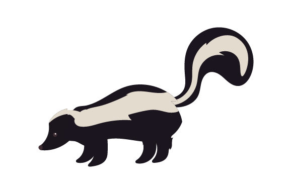 Skunk Animals Craft Cut File By Creative Fabrica Crafts - Image 1