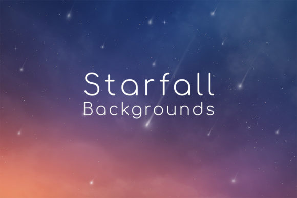 Print on Demand: Starfall Backgrounds Graphic Backgrounds By freezerondigital