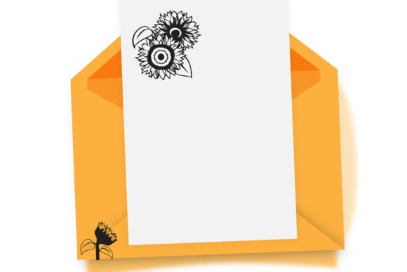 Print on Demand: Sunflowers Dingbats Font By Illustration Ink - Image 4