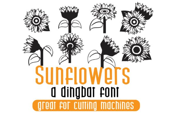 Print on Demand: Sunflowers Dingbats Font By Illustration Ink