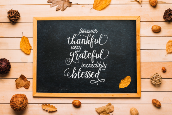 Thankful Grateful Blessed Graphic Crafts By ElsieLovesDesign - Image 2