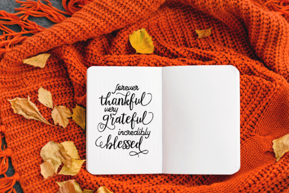 Thankful Grateful Blessed Graphic By ElsieLovesDesign Image 3