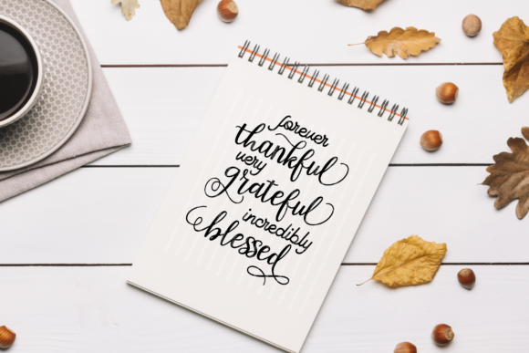 Thankful Grateful Blessed Graphic By ElsieLovesDesign