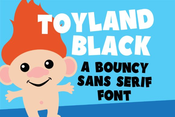 Print on Demand: Toyland Black Display Schriftarten von Illustration Ink