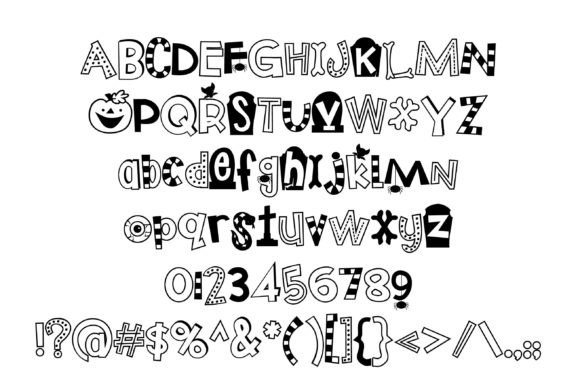 Print on Demand: Trick or Treats Display Font By Illustration Ink - Image 2